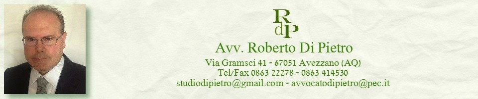 Avvocato Roberto Di Pietro